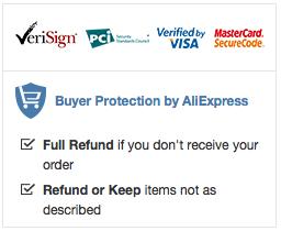 Garantía de compra Aliexpress