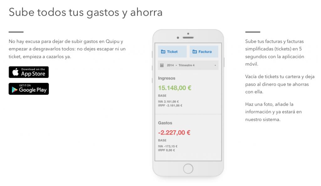 Aplicación móvil Quipu