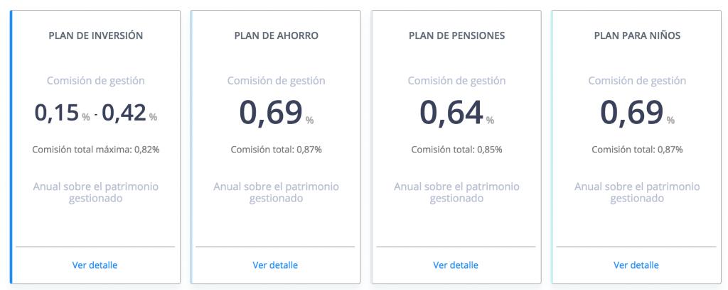 Comisiones de Finizens.com